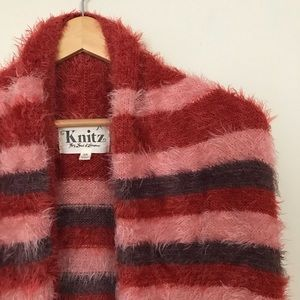 Knitz For Love and Lemons XS Red fuzzy stripe RARE
